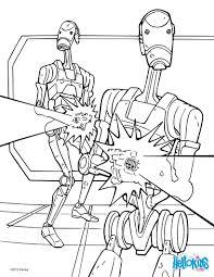 Star Wars Battle Droids Coloring Page Color Online Print