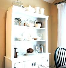 Unfinished Corner Hutch Dining Room Cabinet Small