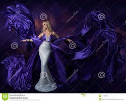 woman with purple dress stock photo image 49902258