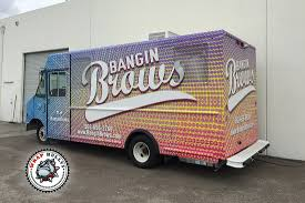 Banging Brows Mobile Boutique Fashion Truck Wrap | Wrap Bullys