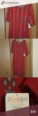LuLaRoe Julia Dress BNWT Size XL Maroon In Color With An Aztec