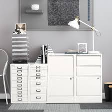 bisley white 5 drawer cabinet the container store