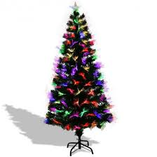 6 Fiber Optic Artificial Christmas Tree With Multi Color Lights