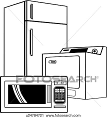 Clipart appliance business sign elements microwave occupations refrigerator