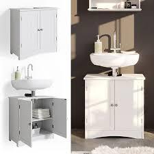 vicco wachtischunterschrank bianco badschrank waschbeckenunterschrank badmöbel badezimmerschrank im landhausstil