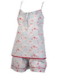 ladies vintage floral pyjamas 100 combed cotton womens cami