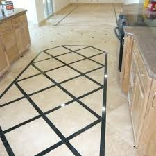 Light Travertine With Absolute Black Border Floor