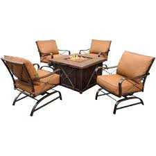 Patio Conversation Set Covers by Fire Pit Chat Set Patio Wicker Fire Pit Chat Set Swivel Sling