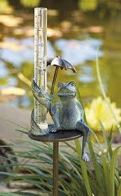 Decorative Outdoor Rain Gauges by Umbrella Frog Rain Gauge Love Frontgates Frog Collections