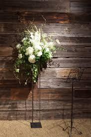 Rustic Wedding Ideas White Flowers Flower Arrangement Cascading Greenery