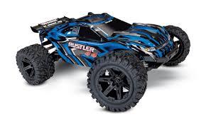 Traxxas Rustler 4X4 VXL Brushed RTR 1/10 4WD Stadium Truck W/TQi 2.4 ...
