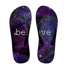 Ytfsf Believe Galaxy Wallpaper Christmas Unisex Comfortable Beach Flip Flops Sandals Slippers Sandal For Home