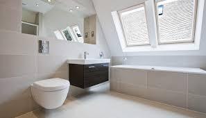 badezimmer idee modernes bad im dachgeschoss
