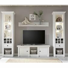 tv mediawand wohnzimmer möbel in pinie weiß landhaus