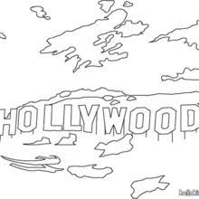 Mount Lee Hollywood Coloring Page