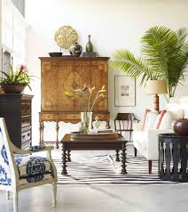British Colonial Decor With Eclectic Accessories