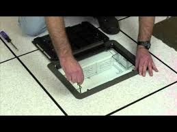wiremold how to install the evolution floor box decorative cover