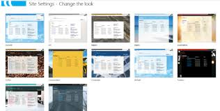 Change Theme Look and Feel of your Point 2013 site