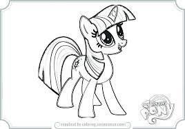 Twilight Sparkle Coloring Pages My Little Pony Girls Alicorn