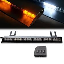 100 Light Bars For Tow Trucks 36 TIR 19 LED Visor Strobe Bar Truck EMS Vehicles