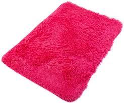 tapiso teppich badematte badvorleger badteppich badezimmer shaggy hochflor langflor rutschfest fuchsie pink soft microfibra 60 x 100 cm