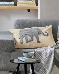 kissen kissenhülle elefant elefantenkissen wohnen