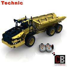 CUSTOMBRICKS.de - LEGO Technic Model RC Dump Truck Custombricks MOC ...