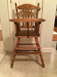 Price Reduced Vintage Wooden High Chair Jenny Lind Antique High