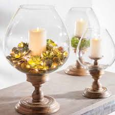 gg collection pedestal candle holder globe hurricane