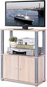 costway fernsehtisch tv möbel regal tisch schrank fernsehschrank sideboard für schlafzimmer wohnzimmer hellbraun