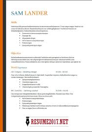 Resume Format 2018 16 Latest Templates In Word Rh Resume2017 Net Exemple Cv Example