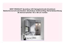 best price quavikey led spiegelschrank aluminum
