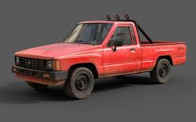 100 Toyota Pickup Truck Models Hilux 19831988 Pickup Game Ready 3D Model