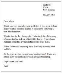 Informal Letter Format For School Students