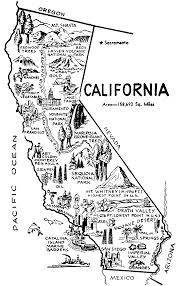 California Road Map Black And White