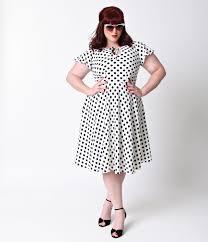 polka dot white dress