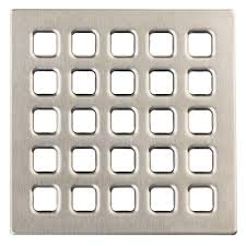 Durock Tile Membrane Kit by Durock 4 In Brushed Nickel Professional Grate Kit Assembly 170154