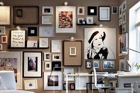 gemälde drucke fotografien auf farbigen wänden living