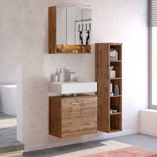 dekor wildeiche badezimmermöbel set lemnas 3 teilig