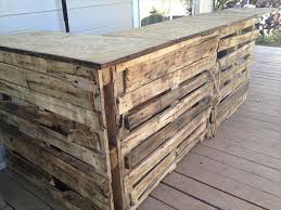Used Wooden Pallet Outdoor Bar Ideas Recycled Within Wood Designs 5