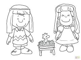 Charlie Brown Nativity Coloring Page Printable Christmas Story Pages Free Lds Medium Size
