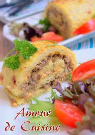 cuisiner la viande roulé de pomme de terre a la viande hachée amour de cuisine