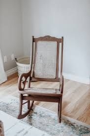 Painted Cane Rocking Chair - White Picket Farmhouse
