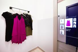A Dressing Room With Magic Mirror At Rebecca Minkoffs Store