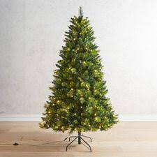 65 Green 2 Tone Slim LED Pre Lit Christmas Tree