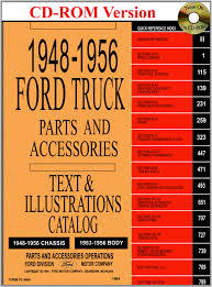 100 Ford Truck Body Parts 194856 Master And Accessory Catalog Motor