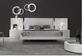 White Toughened Glass Bedroom Furniture