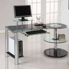computer desks for home small spaces office storage laptop glass