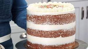 How To Ice A Naked Cake Southern Living