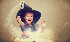 Childrens Halloween Books Witches by Halloween Cheerful Little Witch With A Magic Wand And Glowing